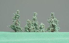 Timberline Deep Woods Green Pine Trees .5 to 2 (6 Pack) Model Railroad Tree #106