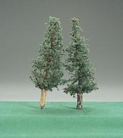 Timberline Deep Woods Green Pine Trees w/Real Wood Trunks 4 to 6 (2) Model Railroad Tree #1108