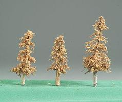 Timberline Pine Trees 2-4 Deadwood Brown (3) Model Railroad Tree #1117