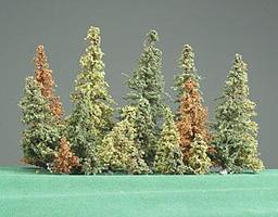 Timberline Alpine Forest Pine Tree Assorted .5 to 6 pkg(17) Model Railroad Tree #190