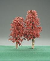 Timberline Indian Summer Deciduous Trees 3'' to 5'' (2) Model Railroad Tree #223