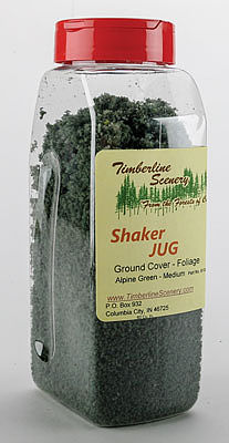 Timberline Scenery Alpine Green (Medium) Ground Cover Shaker Jug -- Model Railroad Scenery -- #61302