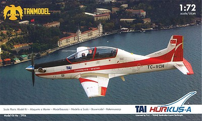 Tanmodel 1/72 Tai Hurkus-A 2-Seater Low-Wing Experimental Turboprop Aircraft