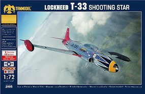 Tanmodel 1/72 T33 Shooting Star Jet Trainer Aircraft