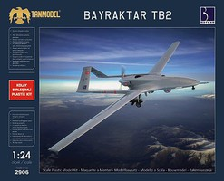Tanmodel 1/24 Bayraktar TB2 Medium-Altitude Long-Range Unmanned Aircraft (New Tool)