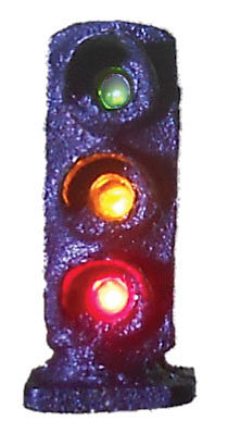 Tomar 3 Light Dwarf Signal Green & Yellow & Red N Scale Model Railroad Operating Accessory #5850