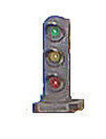 Tomar Dwarf Signal Three-Light (red, yellow & green LEDs) HO Scale Model Railroad Accessory #850