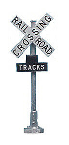 Tomar Industries Railroad Crossbucks With Track Numbers (2) -- HO Scale Model Railroad Trackside Accessory -- #869