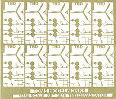 Toms TBD Devastator Detail Set for 10 Aircrafts Plastic Model Ship Accessory 1/350 Scale #3538