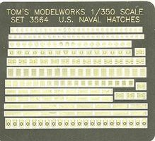 Toms US Naval Deck Hatches Plastic Model Ship Accessory 1/350 Scale #3564