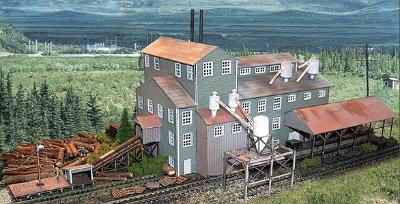 N-Scale-Arch Long Valley Lumber Mill Kit N Scale Model Railroad Building #10004