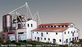 N-Scale-Arch X-Cel Feed Kit (Laser-Cut Wood) N Scale Model Railroad Building #10018