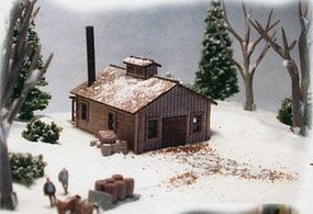 N-Scale-Arch Maple Sugar House Laser-Cut Wood Kit N Scale Model Railroad Building #10021