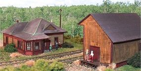 N-Scale-Arch Rockingham Junction Station & Freight House N Scale Model Railroad Building #10022