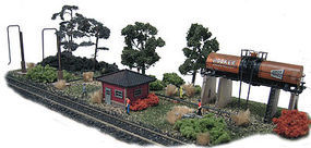 N-Scale-Arch Diesel Fueling Depot Laser-Cut Wood Kit N Scale Model Railroad Building #10031