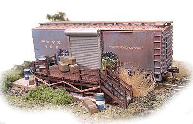 N-Scale-Arch Boxcar Storage Kit N Scale Model Railroad Building #10034