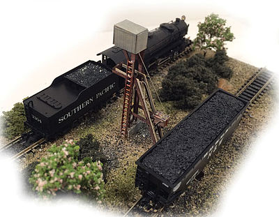 N-Scale-Arch Ash & Coal Loader Kit N Scale Model Railroad Building #10035