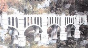 N-Scale-Arch Ogden Creek Viaduct Laser-Cut Wood Kit N Scale Model Railroad Building #10300