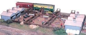 N-Scale-Arch Quality Meat Stockyard Kit N Scale Model Railroad Building #10703