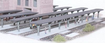 N-Scale-Arch Union City Station Expansion Platform pkg(2) Kit N Scale Model Railroad Building #10901