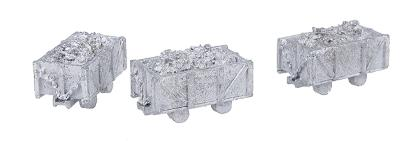 The N Scale Architect 4-Ton Mine Cars pkg(3) -- N Scale Model Railroad Vehicle -- #20013