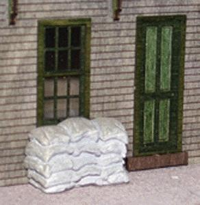 N-Scale-Arch Closed Sack Assortment HO Scale Model Railroad Building Accessories #20029
