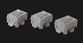 N-Scale-Arch Slate Wagons Kit (Cast Metal) Unpainted (3) N Scale Model Railroad Vehicle #20064
