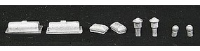 N-Scale-Arch Roof Detail Assortment Modern N Scale Model Railroad Building Accessory #20082