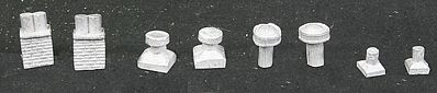The N Scale Architect Roof Detail Assortment Vintage -- N Scale Model Railroad Building Accessory -- #20083