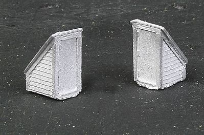 The N Scale Architect Rooftop Stairway Access Door pkg(2) -- N Scale Model Railroad Building Accessory -- #20094