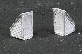 N-Scale-Arch Rooftop Stairway Access Door pkg(2) N Scale Model Railroad Building Accessory #20094