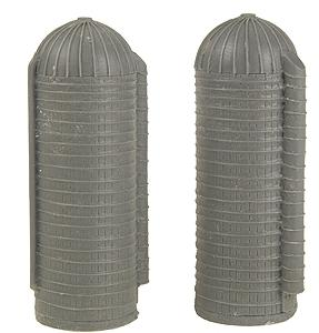 The N Scale Architect Farm Silos (Pack of 2) -- N Scale Model Railroad Building -- #30008