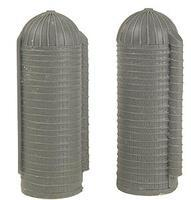 N-Scale-Arch Farm Silos (Pack of 2) N Scale Model Railroad Building #30008