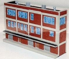 N-Scale-Arch Warehouse 3-stry w/detail - Z-Scale