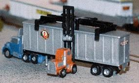 N-Scale-Arch Truck Tractor and 40 Chassis Z Scale Model Railroad Vehicle #30015