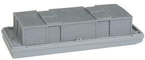 N-Scale-Arch Covered Barge w/Separate Cover Kit (Resin) Z Scale Model Railroad Building #30054