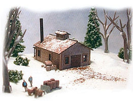 N-Scale-Arch Maple Sugar House Kit Z Scale Model Railroad Building #30056
