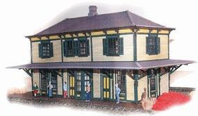 N-Scale-Arch CNJ Two-Story Station - HO-Scale