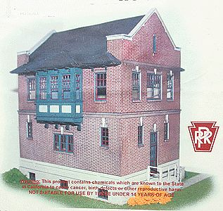 Pennsylvania Railroad Harris Tower Laser-Cut Wood Kit