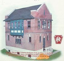N-Scale-Arch Pennsylvania Railroad Harris Tower Laser-Cut Wood Kit HO Scale Model Railroad Building #40013