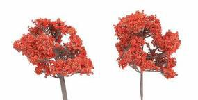 N-Scale-Arch Trees Fall Fiesta Red 6/ - Z-Scale (6)