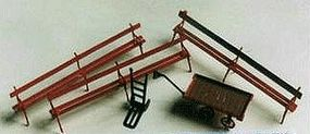 N-Scale-Arch Park Benches & Carts 8/ - N-Scale (8)