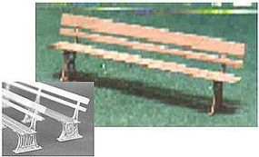 N-Scale-Arch Iron Victorian Benches 3/ - N-Scale (3)