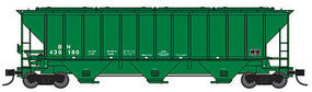 Trainworx PS2CD 4427 Covered Hopper BN #439007 N Scale Model Train Freight Car #2441107