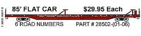 Trainworx PS 85 Flatcar Straight Sill Great Northern #61000 N Scale Model Train Freight Car #2850201