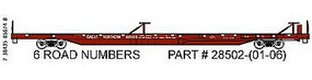 Trainworx PS 85' Flatcar Straight Sill Great Northern #61006 N Scale Model Train Freight Car #2850205