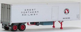 Trainworx Ho Trailer w/curb door GN