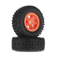Traxxas Tires/Wheels Assembled Glued SCT Orange