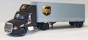 Trucks-N-Stuff Freightliner Day-Cab Tractor w/28 Dry Van Trailer UPS Assembled 1/53 scale #120138