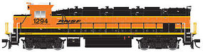 Trainman NRE Genset II Locomotive - Standard DC BNSF Railway #1293 (orange, black, yellow, Wedge Logo) - HO-Scale
